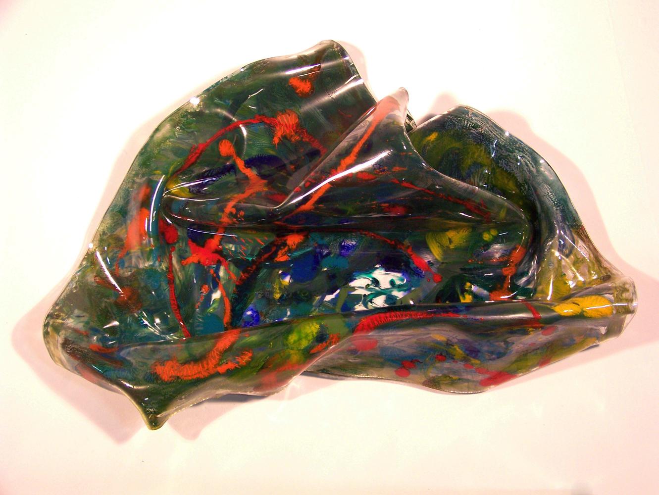"LiquidArt#8 / 38""H x 32"" W x 15"" D / Reverse Acrylic Paint on Acrylic"