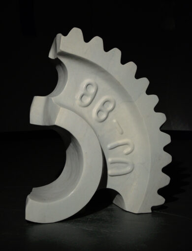 Broken Gear in White