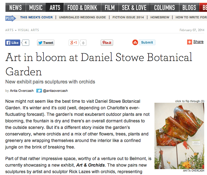 Creative Loafing Charlotte: Art in bloom at Daniel Stowe Botanical Garden
